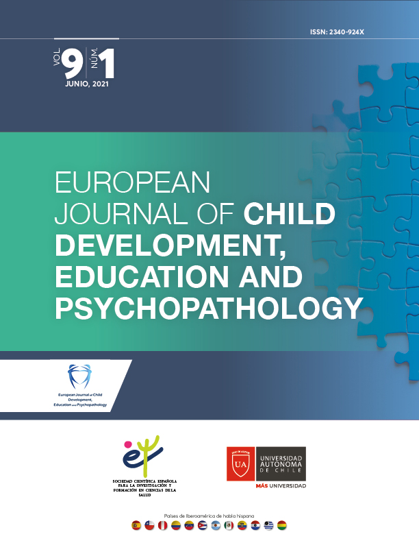 European Journal of Child Development, Education and Psychopathology